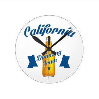 California Drinking team Round Clock