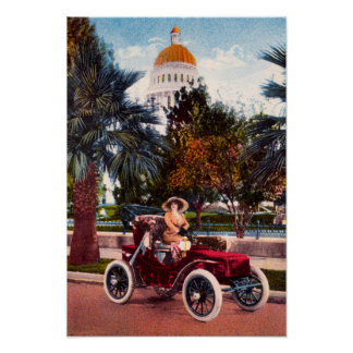 California Driving, Vintage Car Posters