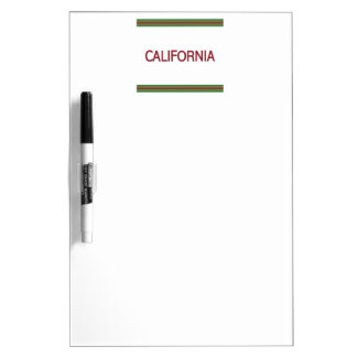 California Dry Erase Board with Pen