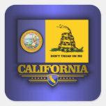 California (DTOM) Pegatina Cuadrada