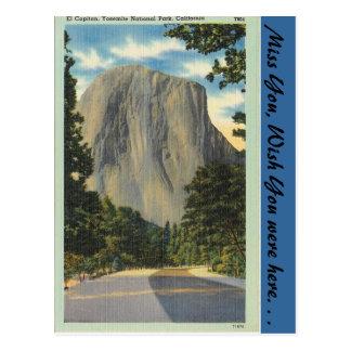 California, El Capitan Postcard