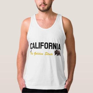 California - el Golden State Playera De Tirantes American Apparel De Jersey Fin