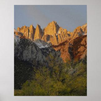 California, el Monte Whitney, bosque del Estado 3  Póster