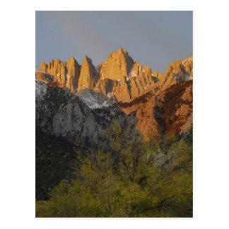 California, el Monte Whitney, bosque del Estado 3 Tarjeta Postal