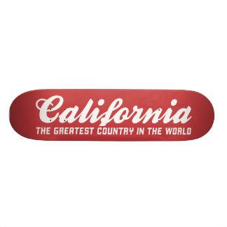 California el país más grande del mundo monopatín