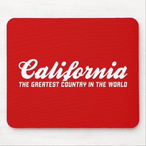 California el país más grande del mundo tapete de ratones