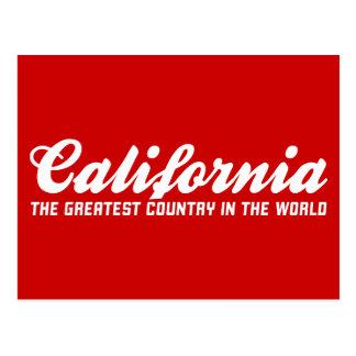 California el país más grande del mundo postal