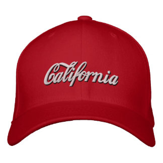 california embroidered hat