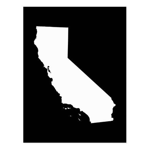 California en blanco y negro tarjetas postales