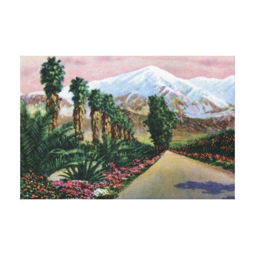 California en pleno invierno lona estirada galerías