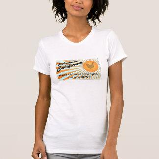California Equal Rights Ladies Cap-sleeve Raglan T-Shirt