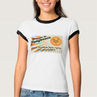 California Equal Rights Ladies Ringer T-Shirt