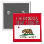 CALIFORNIA es cuadrado del botón de la campaña del Pin Cuadrado