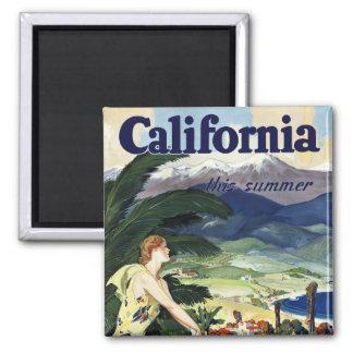California este verano imán cuadrado