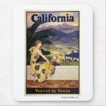 California este verano. Viaje en tren Alfombrillas De Raton