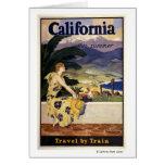 California este verano. Viaje en tren Tarjeta De Felicitación