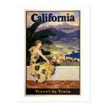 California este verano. Viaje en tren Tarjetas Postales