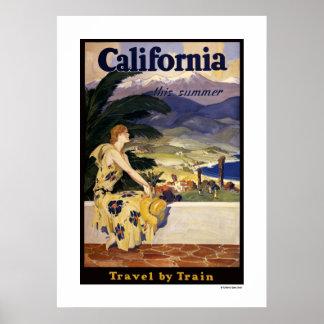 California este verano. Viaje por el poster del tr Póster