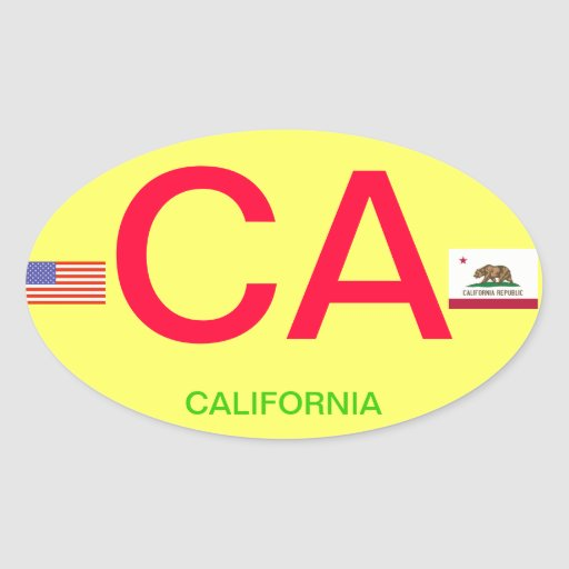 California* European-Style Oval Bumper Sticker