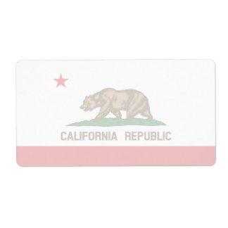 California Faint Flag Shipping Label