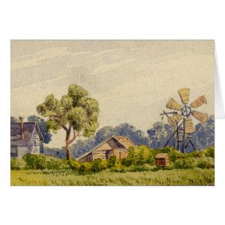 California Farm, Near Stockton Greeting Card
