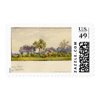 California Farm, Near Stockton Postage Stamp