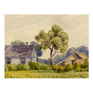 California Farm, Near Stockton Postcard