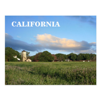 California Farm Postcard