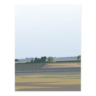 California Farmland Postcard
