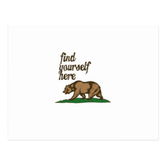 california-find-yourself-here postcard