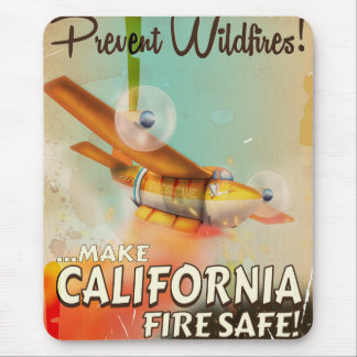 California Fire safe vintage poster Mouse Pad