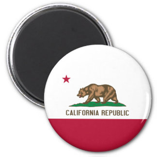California Flag 2 Inch Round Magnet