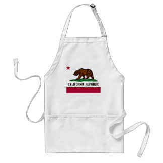 California Flag Adult Apron