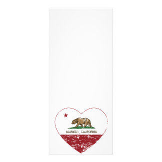 california flag alameda heart distressed custom invite