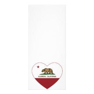 california flag alameda heart custom invitation