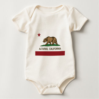 california flag alturas baby bodysuit