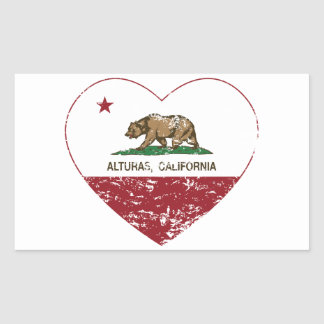 california flag alturas heart distressed rectangular sticker