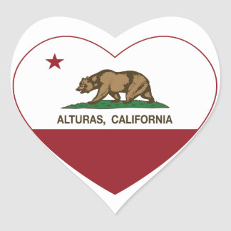 california flag alturas heart heart sticker