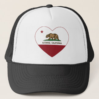 california flag alturas heart trucker hat