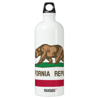 California Flag Aluminum Water Bottle