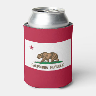 California flag, American state flag Can Cooler