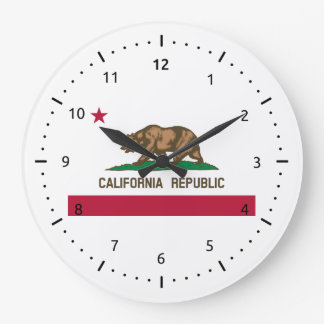 California flag, American state flag Wallclock
