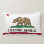 California flag, American state flag Throw Pillow