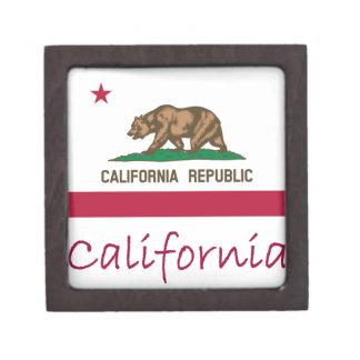 California Flag And Name Gift Box