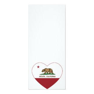 california flag arcata heart card