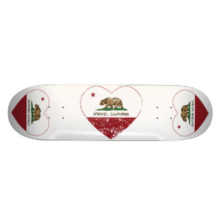 california flag atwater heart distressed skateboard deck
