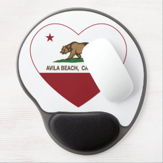california flag avila beach heart gel mouse pad