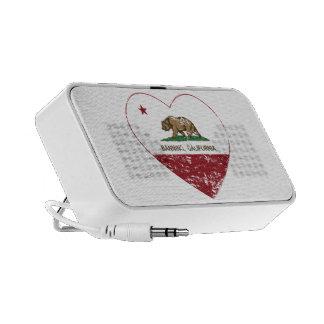 california flag banning heart distressed travel speaker