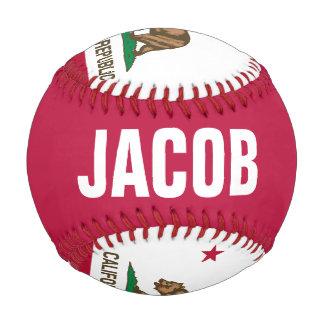 California Flag Baseball with Customizable Name