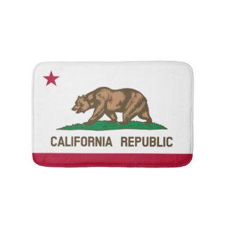 California flag bath mat | bear bathroom rug